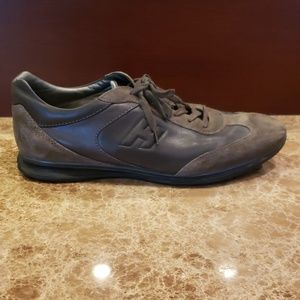 MEN'S GREY HOGAN LACE UP SNEAKERS SHOES ITALY